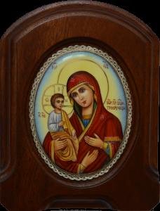 Икона из финифти Троеручица купить с доставкой