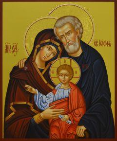 Рукописная икона Святое Семейство купить с доставкой