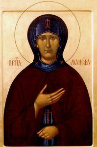 Рукописная икона Манефа Гомельская купить с доставкой