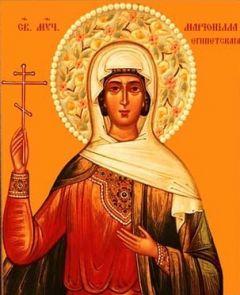 Рукописная икона Марионилла Египетская купить с доставкой