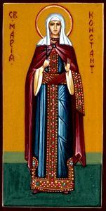 Рукописная икона Мария Константинопольская купить с доставкой