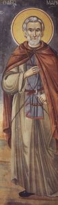 Рукописная икона Марк Нитрийский