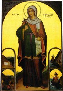 Рукописная икона Маркелла Хиосская купить с доставкой