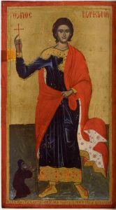 Рукописная икона Маркиан Египетский купить с доставкой