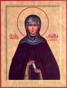 Рукописная икона Марфа Дивеевская купить с доставкой