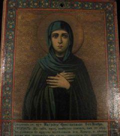 Рукописная икона Матрона Константинопольская купить с доставкой