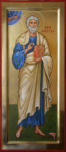 Рукописная икона Матфий Апостол купить с доставкой