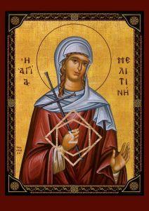 Рукописная икона Мелитина Маркианопольская купить с доставкой