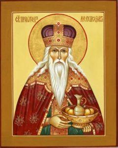 Рукописная икона Мелхиседек Салимский