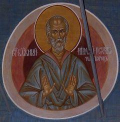 Рукописная икона Николай Псковский купить с доставкой