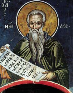 Рукописная икона Нил Синайский