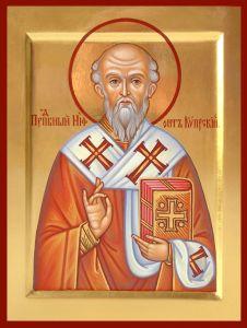 Рукописная икона Нифонт Кипрский