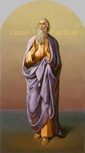 Рукописная икона Ной Праотец