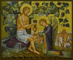 Рукописная икона Иисус Христос Лоза Истинная купить с доставкой