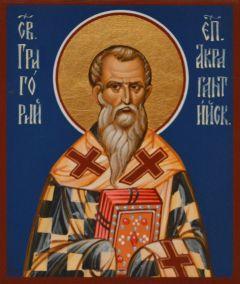 Рукописная икона Григорий Акрагантийский купить с доставкой