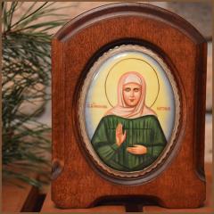 Икона из финифти Матрона Московская купить с доставкой