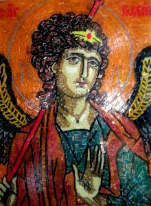 Икона из мозаики Архангел Гавриил купить с доставкой