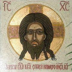 Икона из мозаики Спас Нерукотворный 2 купить с доставкой
