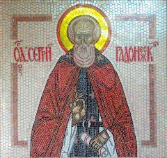 Икона из мозаики Сергий Радонежский купить с доставкой