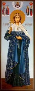 Рукописная икона Александра Понтийская купить с доставкой