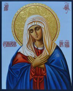 Рукописная икона Умиление Пресвятой Богородицы купить с доставкой