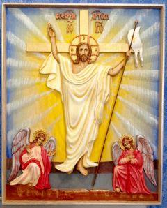 Резная икона Воскресение Христово