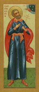 Рукописная икона Петр Казанский