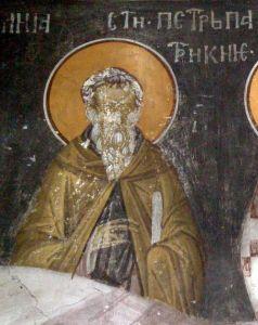 Рукописная икона Петр Константинопольский купить с доставкой