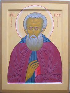 Рукописная икона Петр Ордынский купить с доставкой