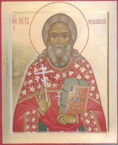 Рукописная икона Петр Черевковский купить с доставкой