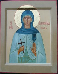 Рукописная икона Платонида Сирская купить с доставкой
