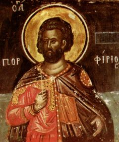 Рукописная икона Порфирий Стратилат купить с доставкой