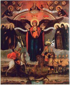 Рукописная Азовская икона Божией Матери купить с доставкой