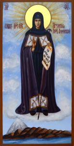 Рукописная икона Игуменья Горы Афонской купить с доставкой