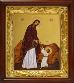 Рукописная икона Первые шаги Иисуса Христа