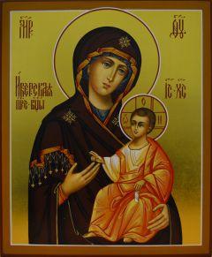 Рукописная Иверская икона Божией Матери купить с доставкой