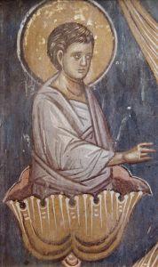 Рукописная икона Салафиил праотец