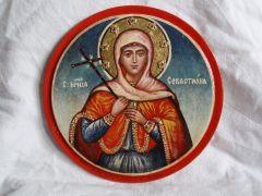 Рукописная икона Севастиана Гераклийская купить с доставкой