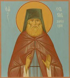 Рукописная икона Серафим Жировицкий купить с доставкой