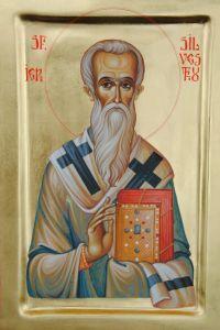 Рукописная икона Сильвестр Римский купить с доставкой