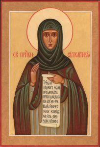 Рукописная икона Синклитикия купить с доставкой
