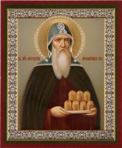 Рукописная икона Спиридон Печерский