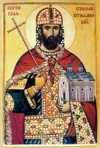 Рукописная икона Стефан Штилянович купить с доставкой