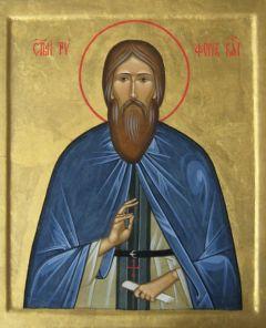 Рукописная икона Трифон Вятский купить с доставкой