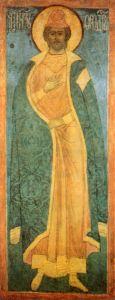 Рукописная икона Феодор Новгородский купить с доставкой