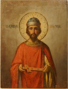 Рукописная икона Феодор Черниговский купить с доставкой