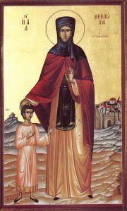 Рукописная икона Феодора Александрийская купить с доставкой