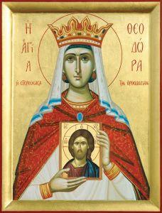 Рукописная икона Феодора Греческая купить с доставкой