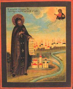 Рукописная икона Феодосий Тотемский купить с доставкой