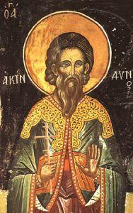 Рукописная икона Святой Акиндин